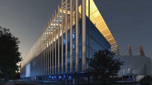 Toppen av 30 Airbus A340-fly vil skjerme for solen på det utbygde stadionet til den franske fotballklubben Racing Strasbourg.