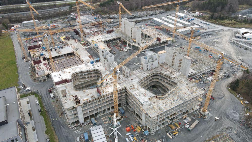 Byggingen av nye  SUS.