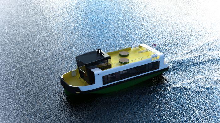 Ny Sundbåt til Kristiansund. Den blir elektrisk med 540 kWh batterier, to trekkende azimuthpropeller, baugthruster og autodkking og autocrossing for autonom drift. Plass til 99 passasjerer og 10 sykler. Lengde: 20 meter, Bredde: 6,5 meter.