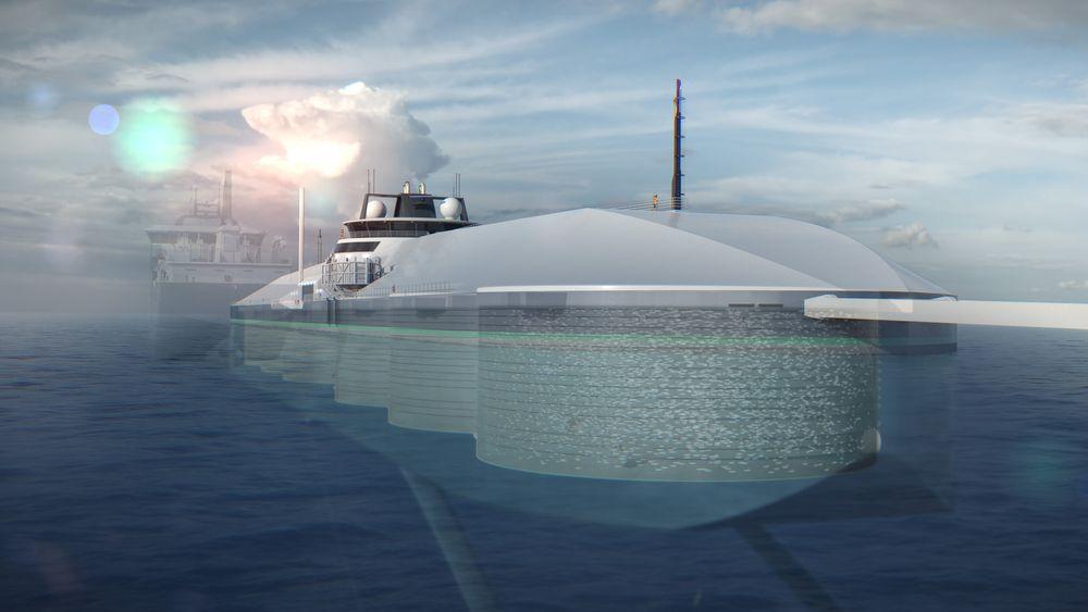 Gjennomskåret illustrasjon viser de seks tankene som skal inneholde 11 500 kubikkmeter vann.