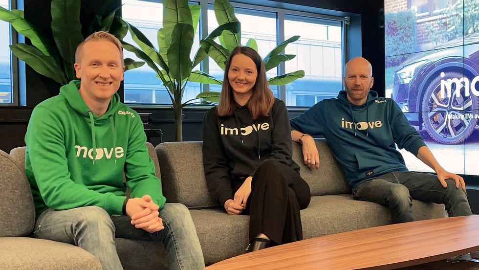 F. v.: Hans Kristian Aas (co-founder og CEO), Jennifer Foldnes Einarsen (Head of International Expansion) og Gunnar Birkenfeldt (co-founder og CPO).