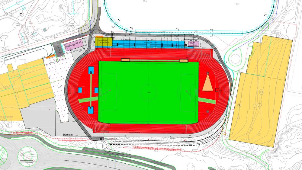 Situasjonsplanen for Atlanten stadion.