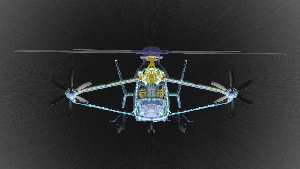 Slik blir Airbus RACER (Rapid And Cost-Efficient Rotorcraft) når det bygges ferdig i løpet av året.
