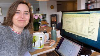 Kristine Ildahl Bjørnstad på hjemmekontoret.
