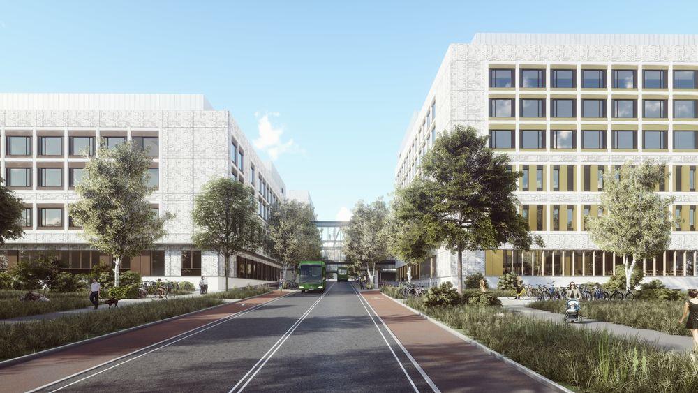 Illustrasjon av det nye sykehuset i Stavanger.