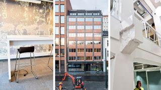 Insenti Entra Spaces ombruk KA13 Kristian Augusts gate Oslo sirkulær økonomi Regjeringskvartalet Haandverkerne interiør Scenario Mad