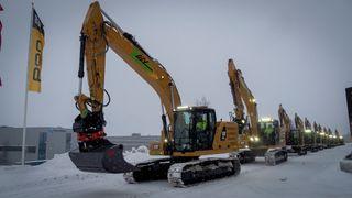 Ombygde Cat gravemaskiner, 12 og 25 tonnere til batterielektrisk drift