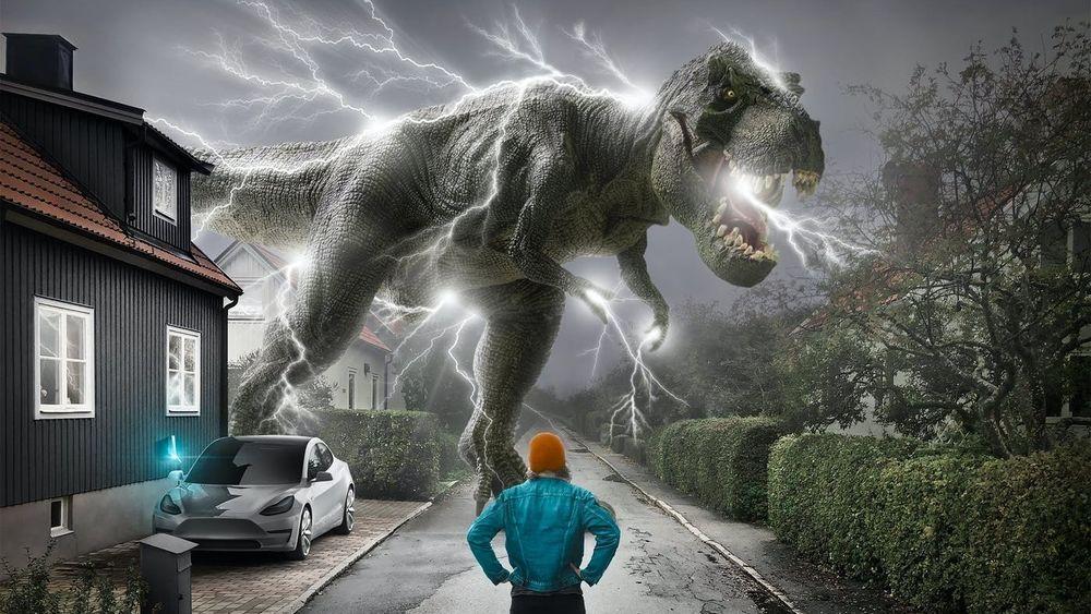 Elektriske dinosaurer: Tibber selger strøm uten fortjeneste og markedsfører seg som et teknologiselskap som vil bekjempe elektriske dinosaurer.  Det vil si kraftleverandører som skal tjene penger på strømmen.