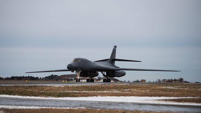Amerikanske bombefly har landet på Ørland