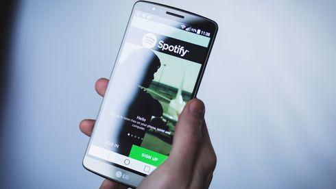 Spotify-appen på mobil.