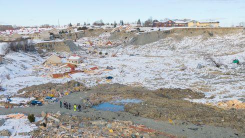 Dronebilder fra skredområdet på Ask i Gjerdrum. Rasområdet fotografert dagen etter at ytterligere to omkomne ble funnet.