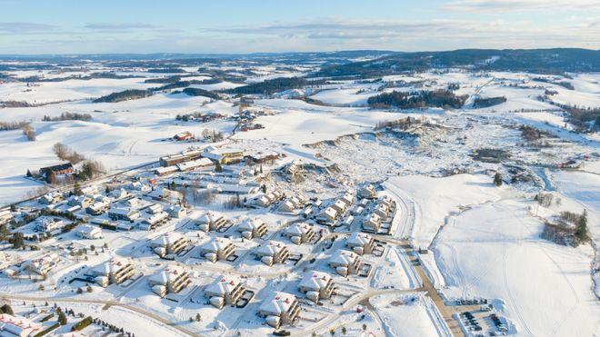 Flere kommuner rundt om i landet planlegger byggeprosjekter på områder med høyere risiko for kvikkleireskred enn i Gjerdrum. Foto: Anders Martinsen, UAS Norway / POOL / NTB