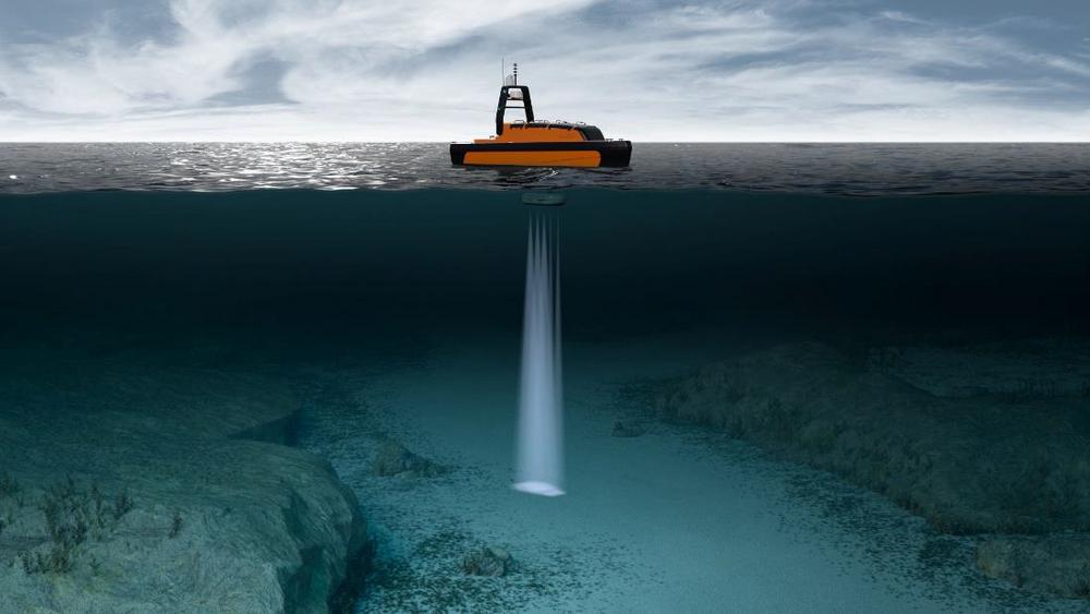 USV Sounder skal finne fisk for Havforskningsinstituttet.