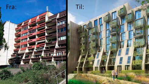 Boligblokker oslo kommune boligbygg solceller fasade rehabilitering bergvarmepumpe balansert ventilasjon olav væhle futurebuilt passivhus