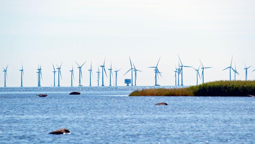 Bunnfast havvindpark utenfor Danmark.