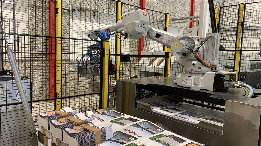 Ålgård Offset effektiviserer og forbedrer arbeidsmiljøet med robotisering