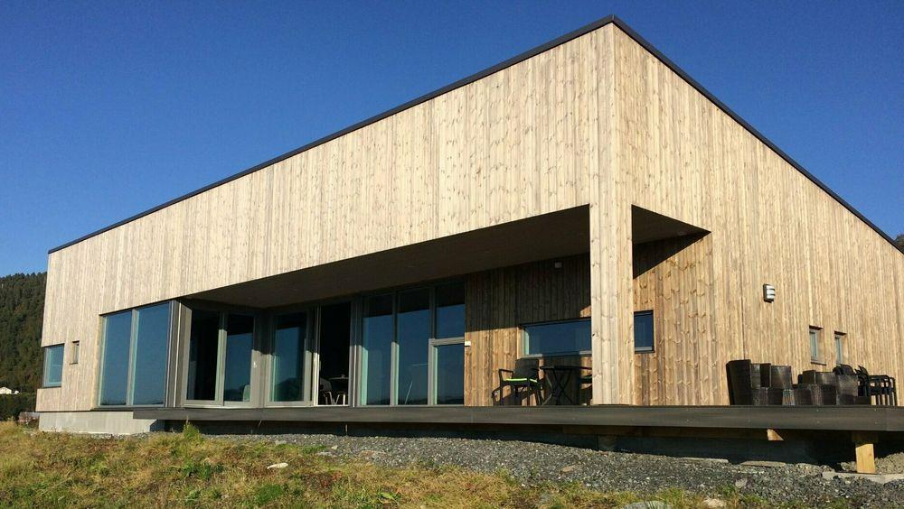 Renn-bygg hadde totalentreprisen på denne arkitekttegnede eneboligen i nærheten av Kristiansund.