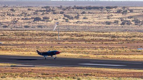 Startet arbeidet for kun tre år siden: Vingmann-dronen som skal følge med Australias kampfly har vært i lufta