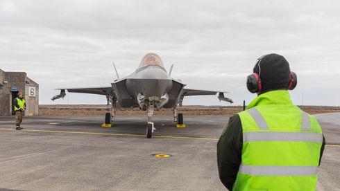 Er der med fire F-35: Luftforsvaret må være forberedt på vulkanutbrudd ved Keflavik