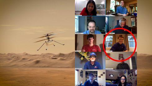Håvard skal styre Mars-helikopteret fra hjemmekontoret