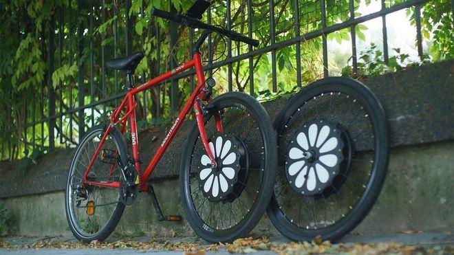 Franske Teebike tilbyr deg å sette elmotor på navet på en vanlig sykkel. Men den løsningen er ikke så god vinterstid, ifølge ekspert.