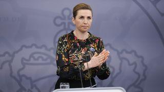 København, Danmark 20210224. Danmarks statsminister Mette Frederiksen under en pressekonferanse om koronasituasjoned.Foto: Jens Dresling/Ritzau Scanpix / NTB
