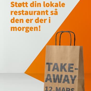 Bilde med teksten: Støtt din lokale restaurant så den er der i morgen