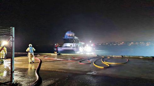 Brim ble slept til kai: Frykter hydrogeneksplosjon på turistskipet