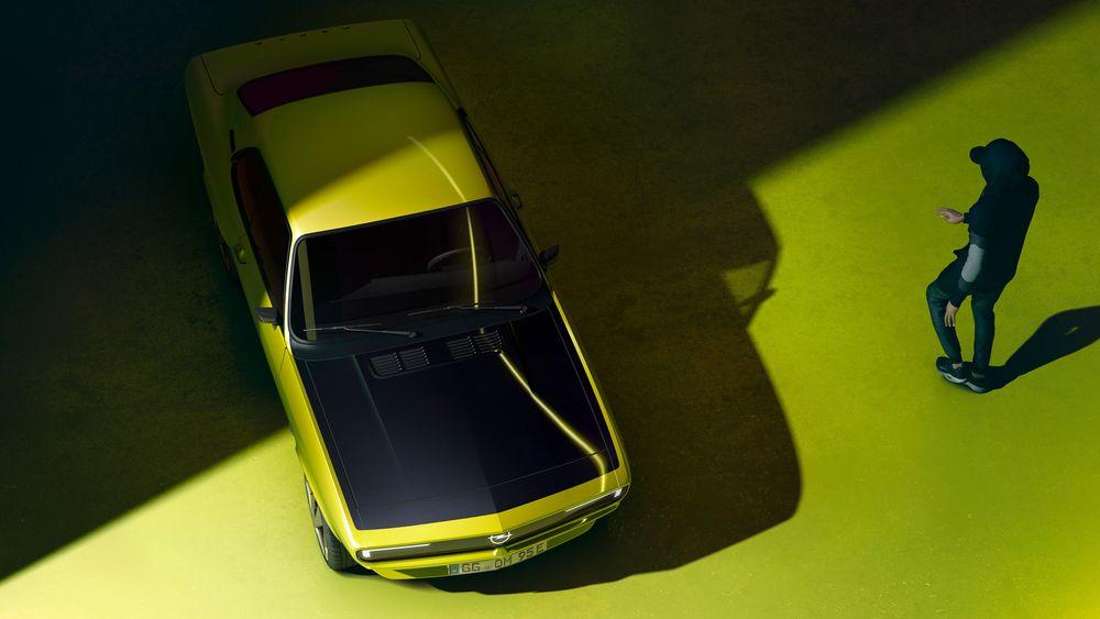 Opel viser en elektrisk Manta. Men den blir neppe en serieprodusert bil.
