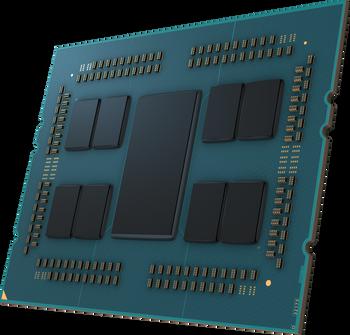 Tredjegenerasjon AMD Epyc-prosessor uten lokk.