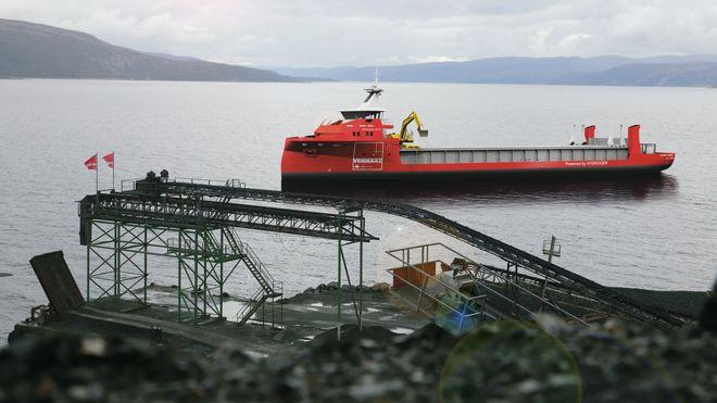 Ottersbo pukkverk på Ørland har gått over til elektrisk drift. Neste blir nullutslipps bulkskip fra Veidekke til å transportere pukk, stein, grus og asfalt.
