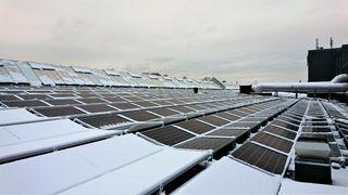 Innos Weight Watcher Fusen Energi snøsmelteanlegg solceller solenergi solcellepaneler Down Town Porsgrunn