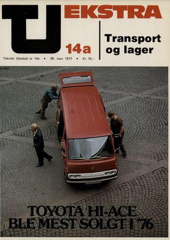 En annonse for Toyota Hiace i 1977.