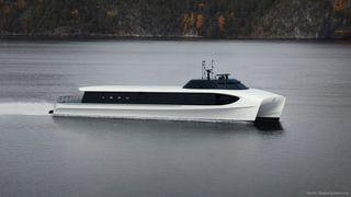 Brødrene Aa produserer katamaraner i karbon, som gjør dem lette og energieffektive. For Oslofjorden skal det bygges elektriske hurtigbåter, etter planen.
