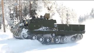 Prototypen besto vintertesting: Nå skal nye tyske kampstøttevogner bygges i Trøndelag