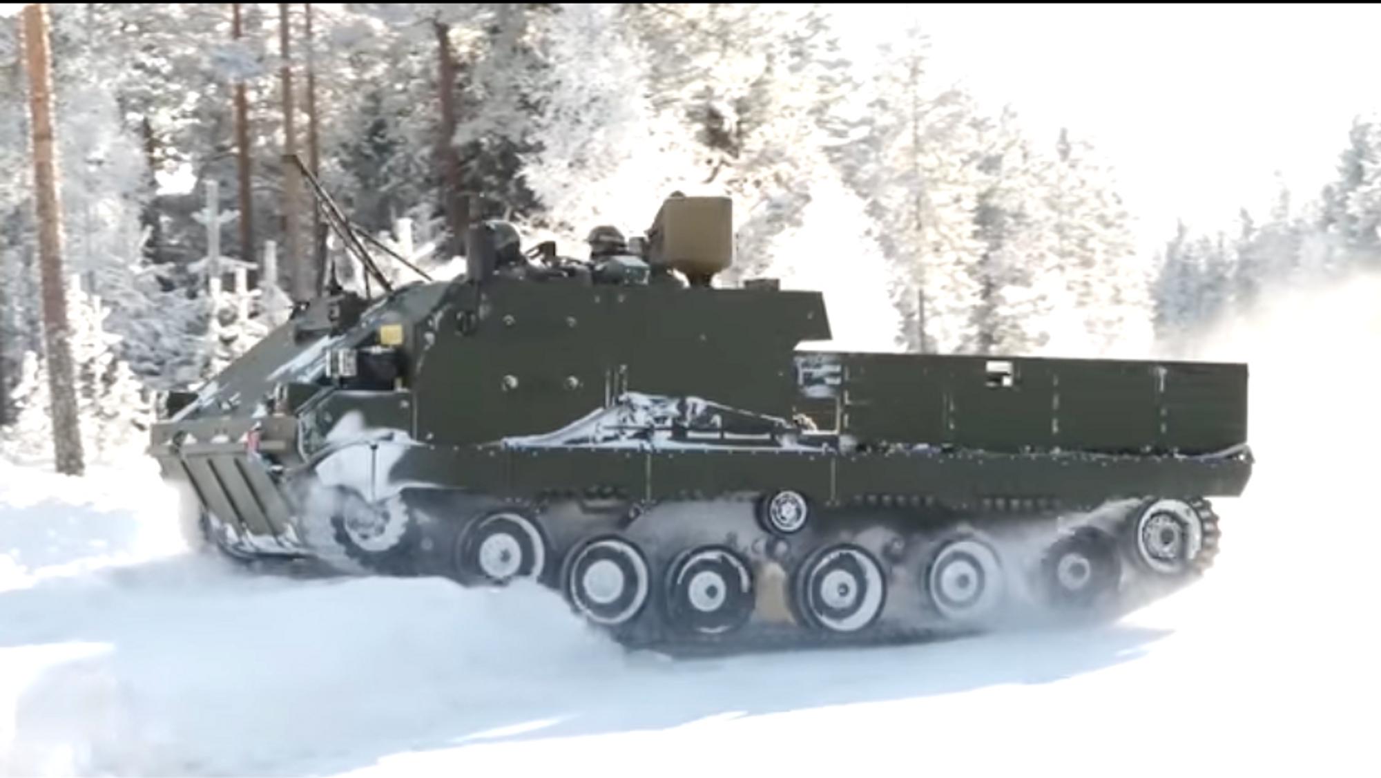 ACSV-prototypen på vintertesting på Rena tidligere i vinter.