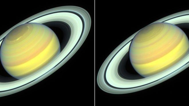 Saturn endret farge – Hubble-teleskopet fanget det
