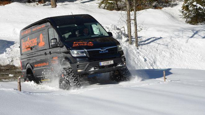 Vinterbilen på larveføtter trenger ingen vei