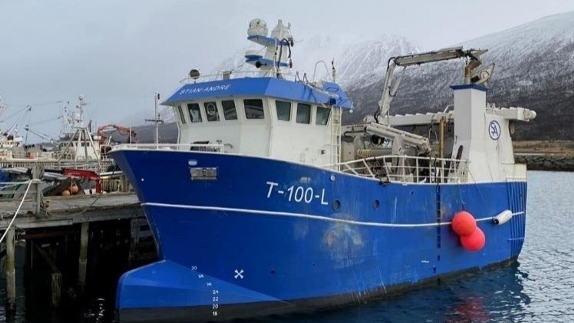 Fiskebåten Stian-Andre kolliderte med en merd.