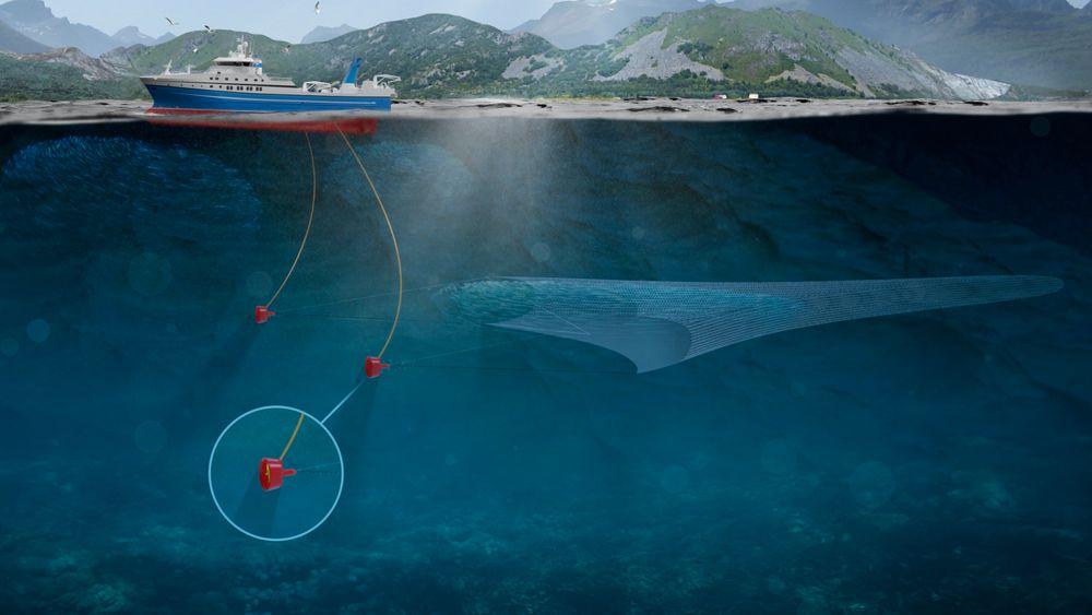 Eco Trawls løsning bytter ut tråldører med thrustere.