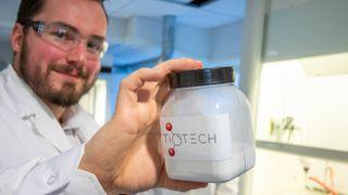 Bilder fra laboratoriet til TioTech i Bergen.