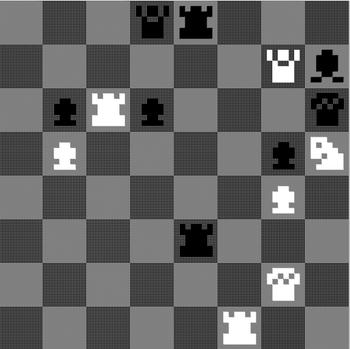 1K holder nok ikke til å slå Magnus Carlsen. Sluttstillingen i parti mellom TUs redaktør og 1K Chess (1-0). Ikke et parti for historiebøkene.