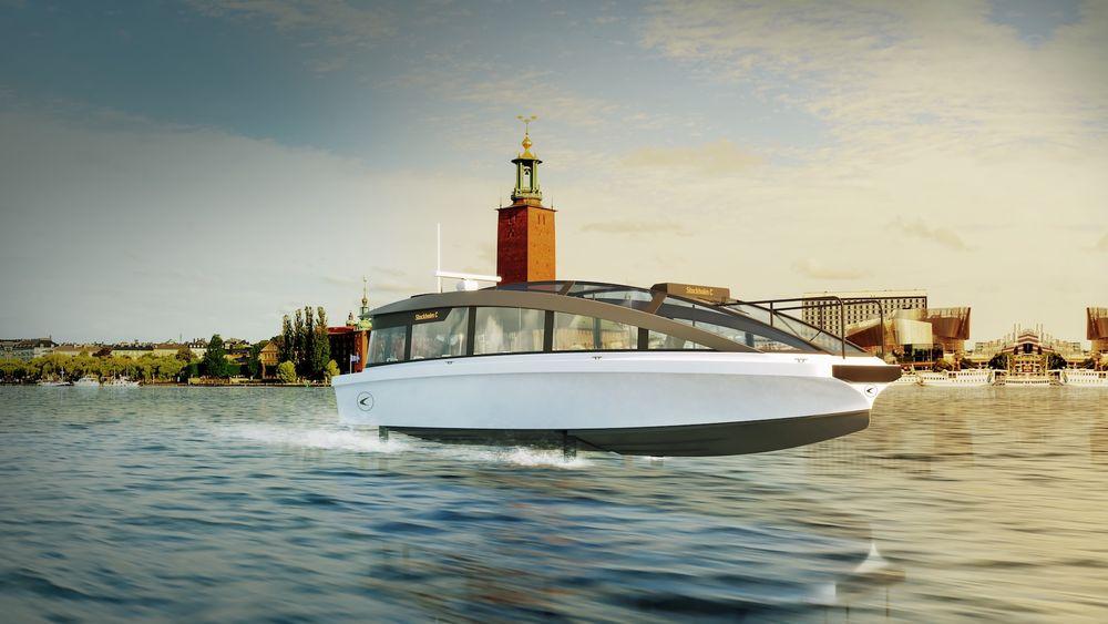 Hydrofoilbåten skal trafikkere Stockholms skjærgård i 2022.