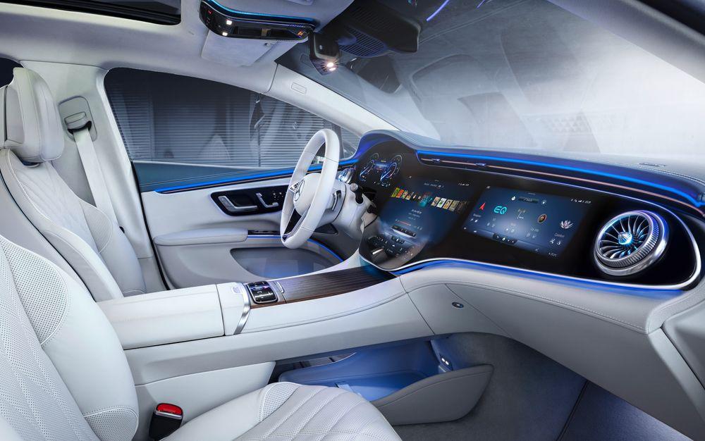 Interiøret i kommende Mercedes-Benz EQS.