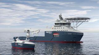 Blir ubemannet: Det lille fartøyet skal erstatte et stort med 50 mennesker om bord