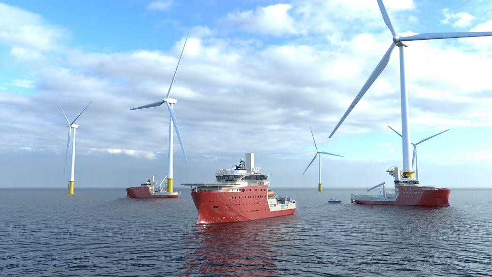 Vard skal levere tre havvindskip i 2023 til North Star Renewables for operasjoner på Dogger Bank, verdens største havvindpark.