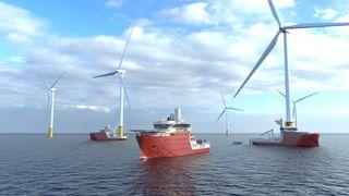 Vard skal levere tre havvindskip i 2023 til North Star Renewables for operasjoner på Digger Bank, verdens  største havvindpark.