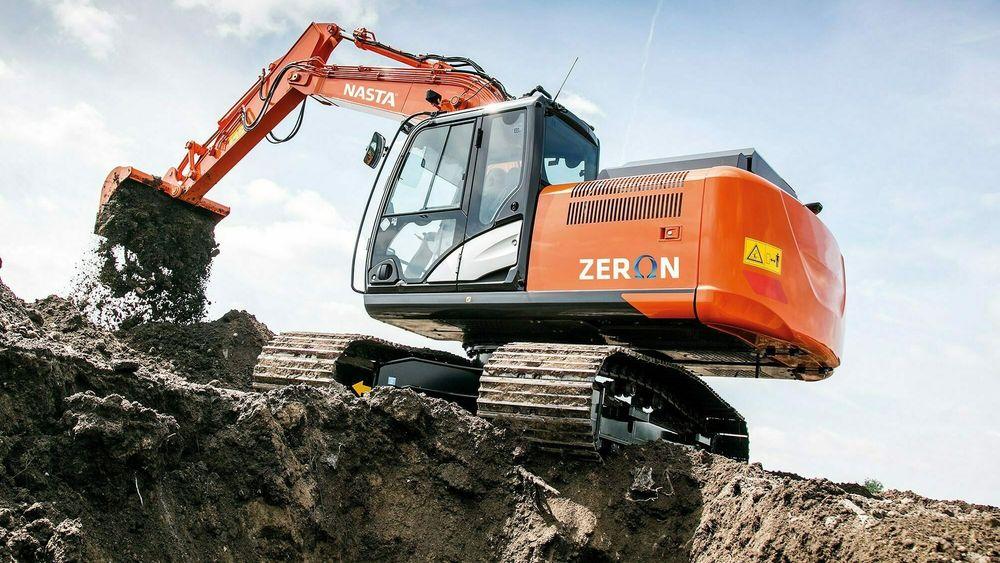 Nasta i Larvik bygger om gravemaskiner fra diesel til elektrisk drift.