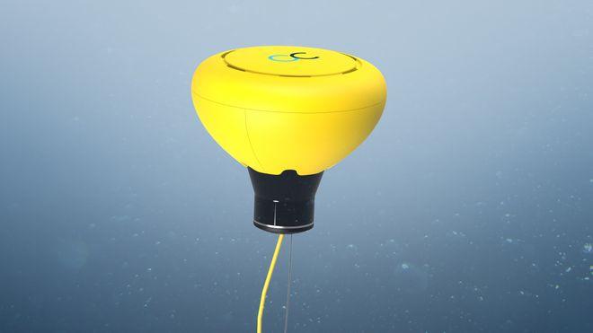 Denne lille bøya kan transportere store mengder data fra sensorer, bilder og video fra havbunnen. Den kan heves til overflaten for å sende dataene via fjernstyring fra land.