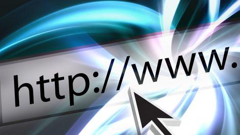 En muspeker over en webadresse.